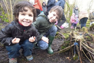 Forest School at Miller's Dale, Get Better With Nature project, Diane Gould