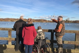Community groups enjoying nature in Chesterfield, Helen Mitchem