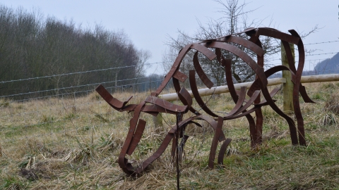 Sculpture trail at Woodside Farm, Gavin Henderson