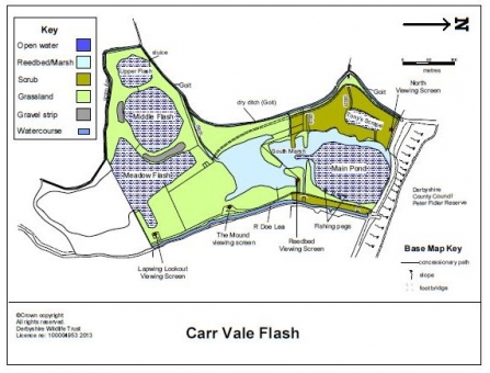 Carr Vale reserve map