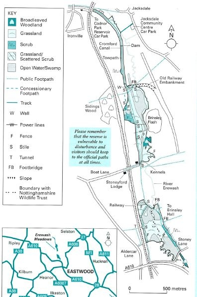 Erewash Meadows map