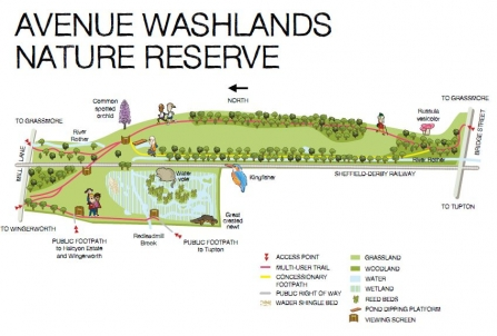 The Avenue Washlands reserve map