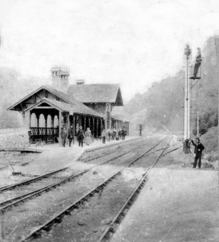 Whistlestop Photo of station taken c.1860